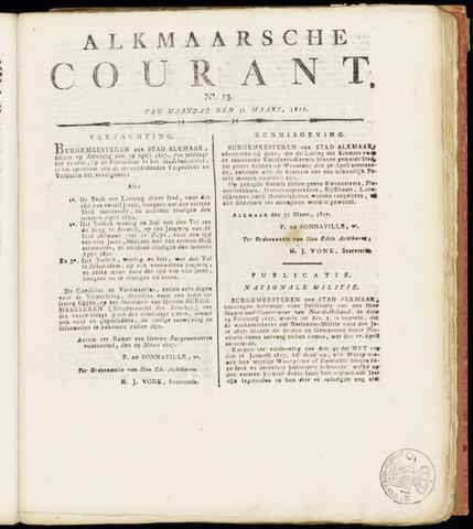 Alkmaarsche Courant 1817-03-31