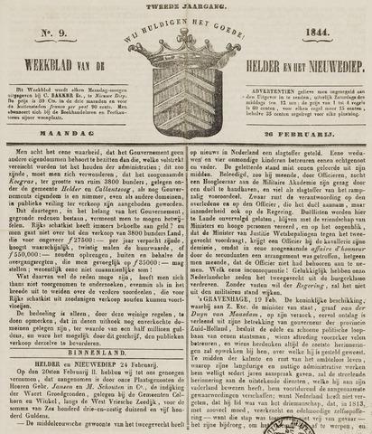 Weekblad van Den Helder en het Nieuwediep 1844-02-26