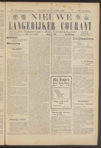 Nieuwe Langedijker Courant 1930-04-19