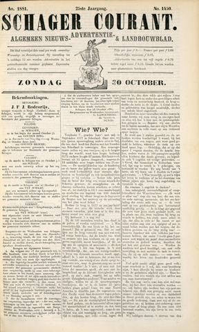 Schager Courant 1881-10-30