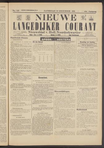 Nieuwe Langedijker Courant 1931-12-19