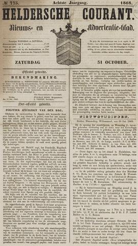 Heldersche Courant 1868-10-31