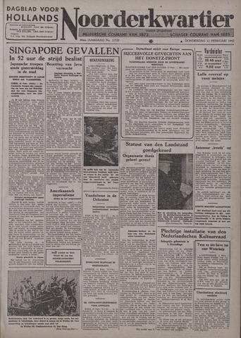 Dagblad voor Hollands Noorderkwartier 1942-02-12