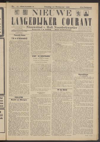Nieuwe Langedijker Courant 1926-11-30