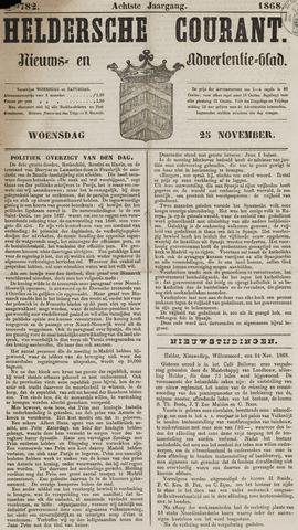Heldersche Courant 1868-11-25