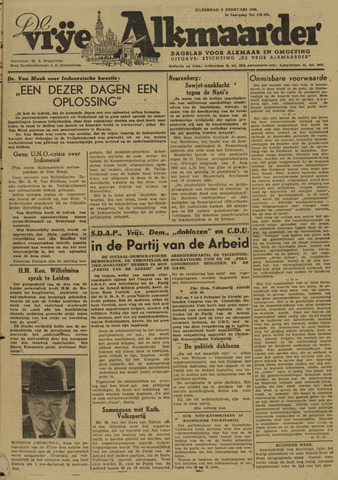 De Vrije Alkmaarder 1946-02-09