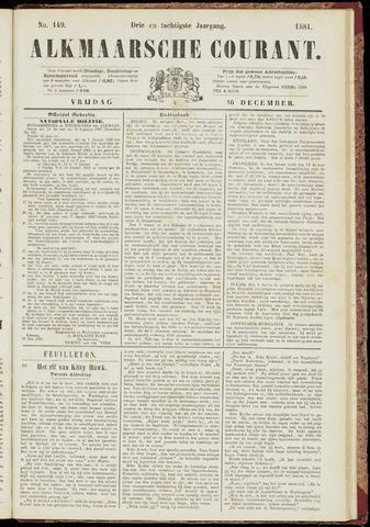 Alkmaarsche Courant 1881-12-16