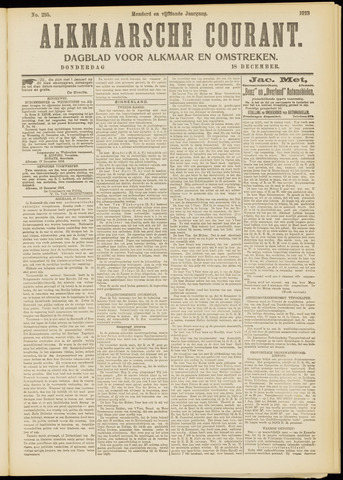 Alkmaarsche Courant 1913-12-18