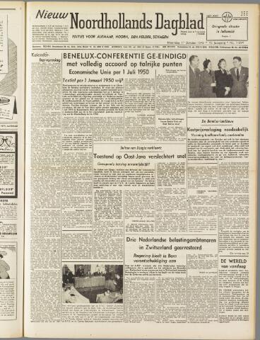 Nieuw Noordhollandsch Dagblad : voor Alkmaar en omgeving 1949-10-17