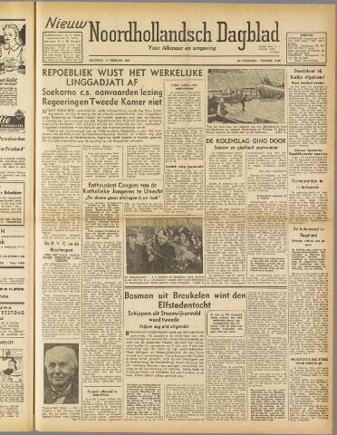 Nieuw Noordhollandsch Dagblad : voor Alkmaar en omgeving 1947-02-10