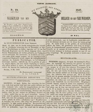 Weekblad van Den Helder en het Nieuwediep 1847-05-10