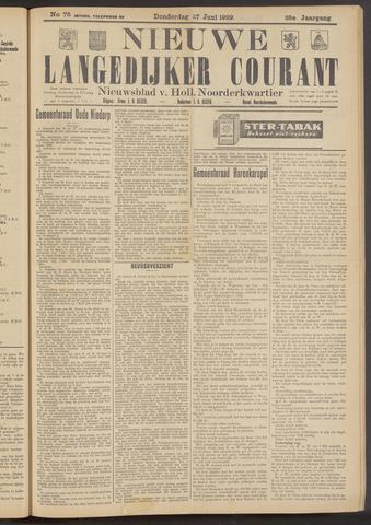 Nieuwe Langedijker Courant 1929-06-27