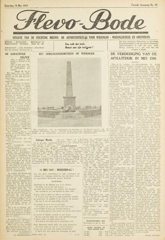Flevo-bode: nieuwsblad voor Wieringen-Wieringermeer 1947-05-10