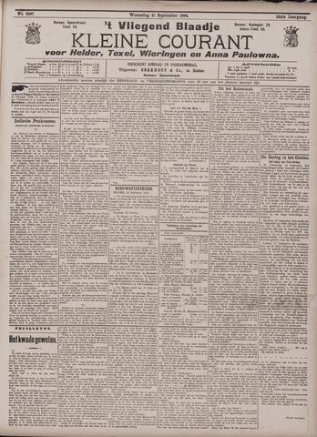 Vliegend blaadje : nieuws- en advertentiebode voor Den Helder 1904-09-21