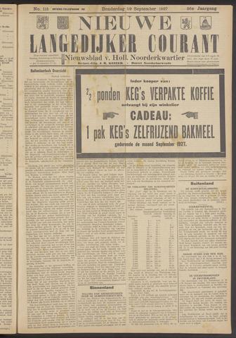 Nieuwe Langedijker Courant 1927-09-29