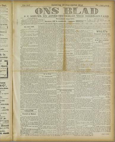 Ons Blad : katholiek nieuwsblad voor N-H 1919-09-13