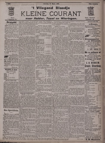 Vliegend blaadje : nieuws- en advertentiebode voor Den Helder 1900-03-31