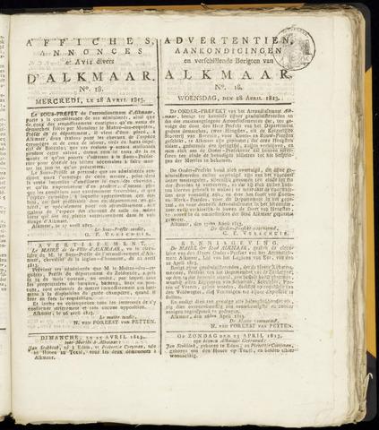 Alkmaarsche Courant 1813-04-28