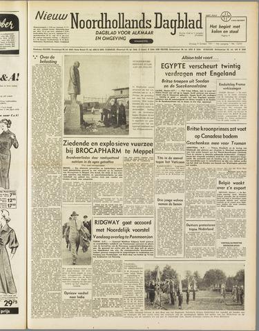 Nieuw Noordhollandsch Dagblad : voor Alkmaar en omgeving 1951-10-09