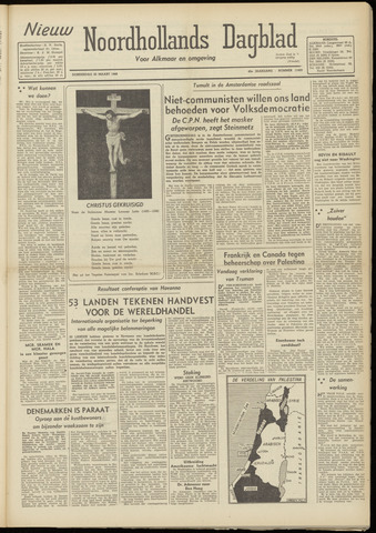 Nieuw Noordhollandsch Dagblad : voor Alkmaar en omgeving 1948-03-25
