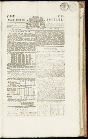 Alkmaarsche Courant 1843-06-12