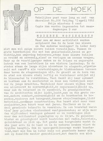 Op De Hoek, weekblad voor Akersloot 1962-04-13
