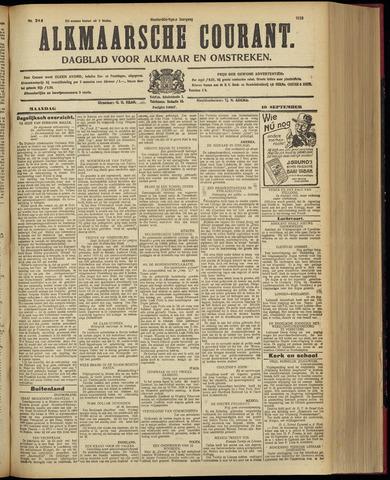 Alkmaarsche Courant 1928-09-10