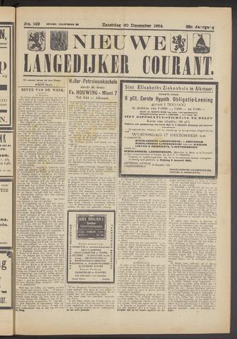 Nieuwe Langedijker Courant 1924-12-20
