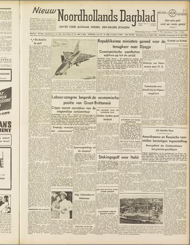 Nieuw Noordhollandsch Dagblad : voor Alkmaar en omgeving 1949-06-08