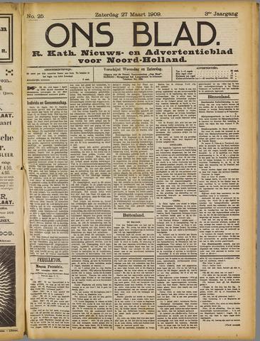 Ons Blad : katholiek nieuwsblad voor N-H 1909-03-27