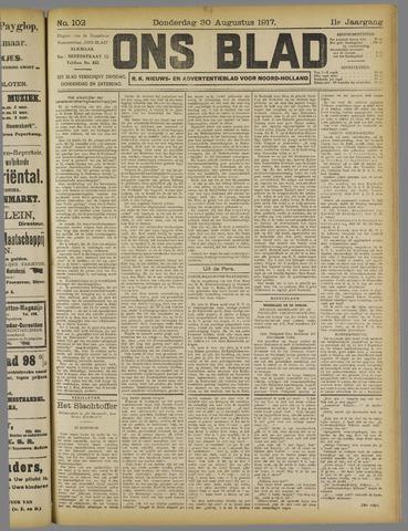 Ons Blad : katholiek nieuwsblad voor N-H 1917-08-30