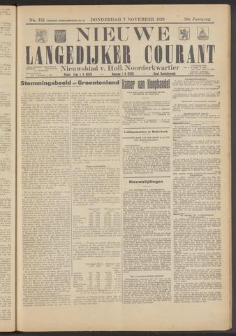 Nieuwe Langedijker Courant 1929-11-07