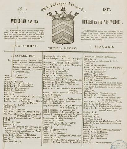 Weekblad van Den Helder en het Nieuwediep 1857-01-01