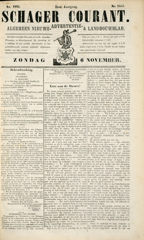 Schager Courant 1881-11-06