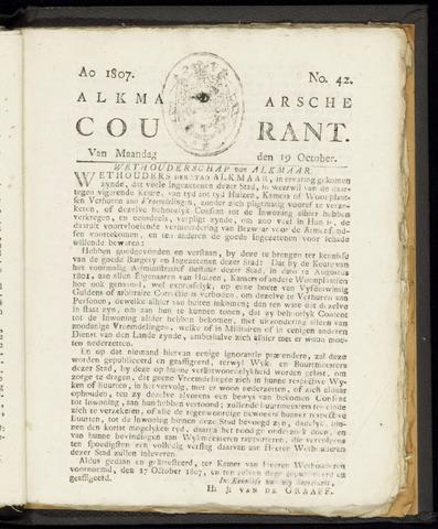 Alkmaarsche Courant 1807-10-19