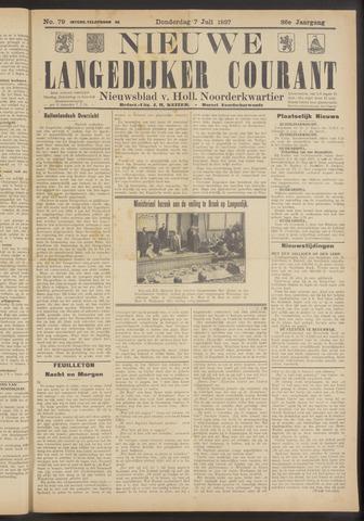 Nieuwe Langedijker Courant 1927-07-07