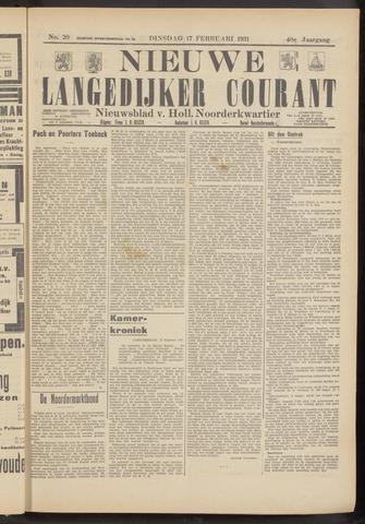 Nieuwe Langedijker Courant 1931-02-17