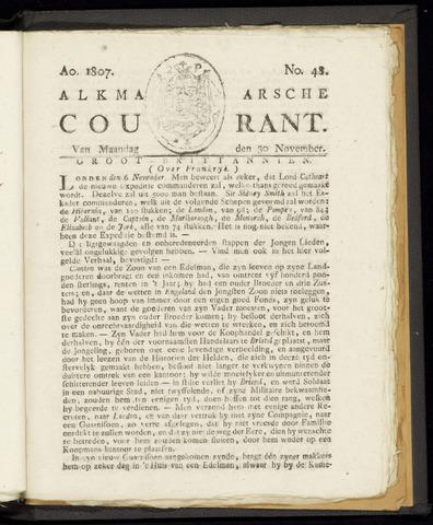 Alkmaarsche Courant 1807-11-30