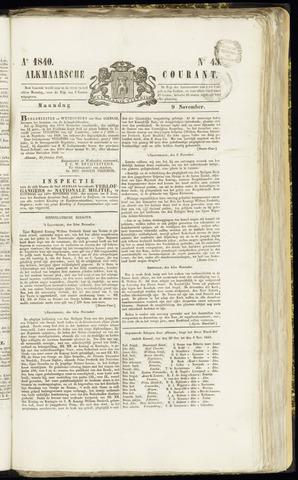 Alkmaarsche Courant 1840-11-09