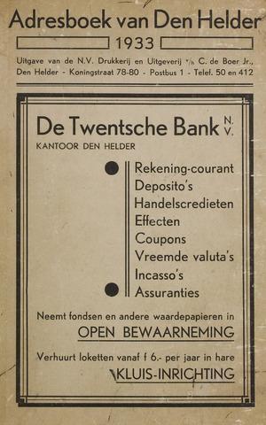 Adresboek van Den Helder 1933-01-01