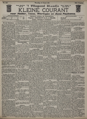 Vliegend blaadje : nieuws- en advertentiebode voor Den Helder 1908-01-22