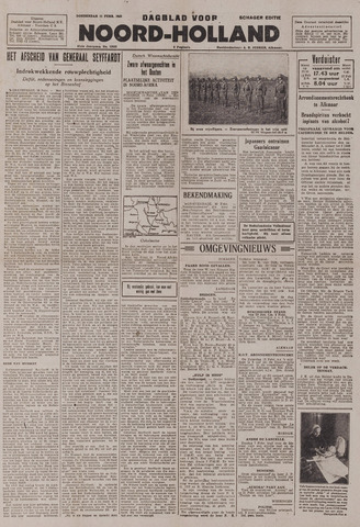 Dagblad Noord-Holland, Schager editie 1943-02-11