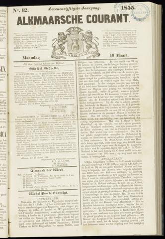 Alkmaarsche Courant 1855-03-19