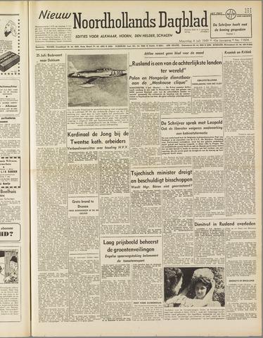 Nieuw Noordhollandsch Dagblad : voor Alkmaar en omgeving 1949-07-04