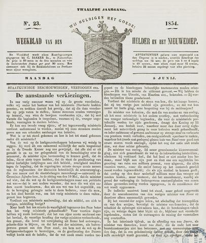 Weekblad van Den Helder en het Nieuwediep 1854-06-05