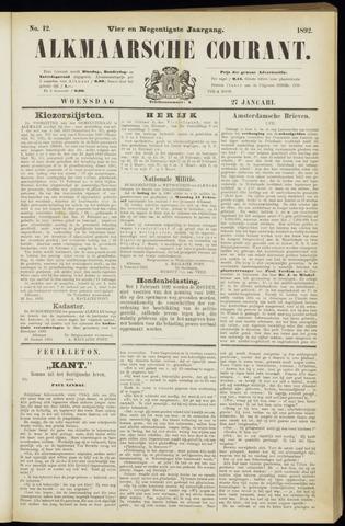 Alkmaarsche Courant 1892-01-27