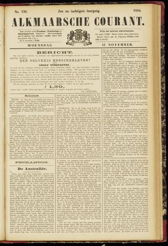 Alkmaarsche Courant 1884-11-12