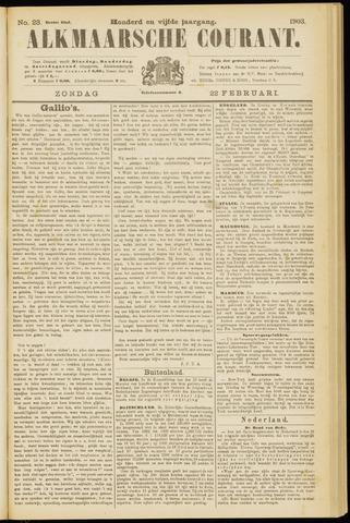 Alkmaarsche Courant 1903-02-22
