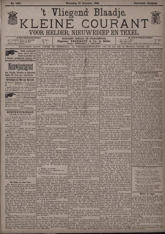 Vliegend blaadje : nieuws- en advertentiebode voor Den Helder 1886-12-22