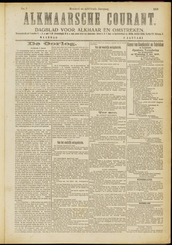 Alkmaarsche Courant 1916-01-03